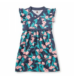 Tea Collection Bloomin' Wrap Neck Dress