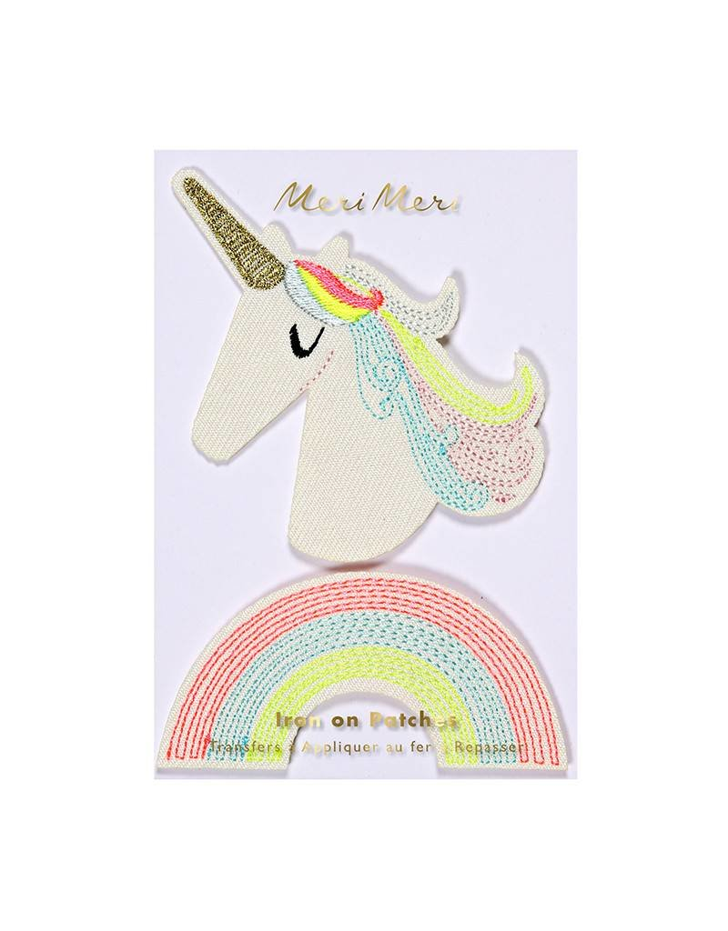 Meri Meri Iron On Patches- Unicorn