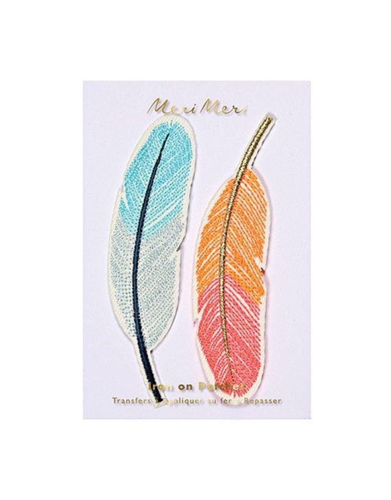 Meri Meri Iron On Patches- Feathers