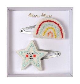 Meri Meri Hair Clips- Rainbow & Star
