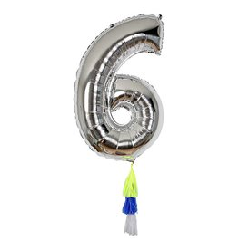 Meri Meri Number Balloon: 6