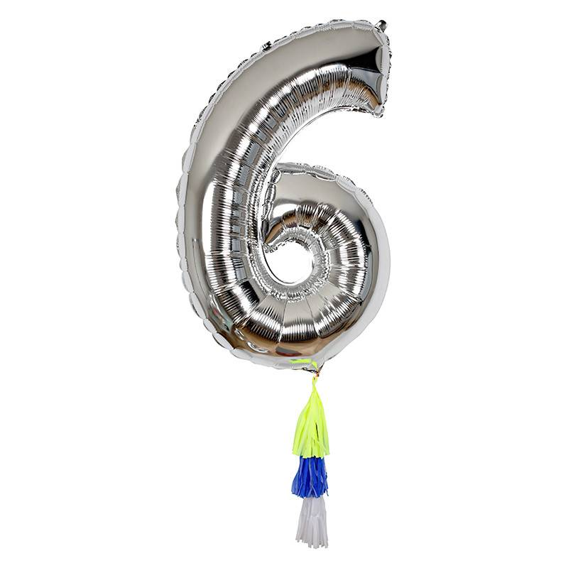 Meri Meri Number Balloon: 6
