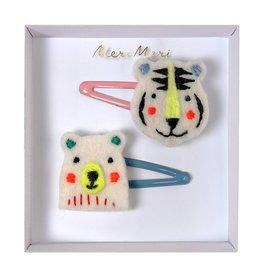 Meri Meri Hair Clips- Bear & Tiger