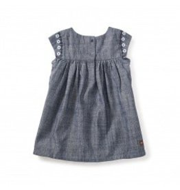 Tea Collection Fig Street Emb Chambray Bb Drs