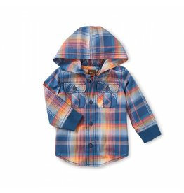 Tea Collection Cooper Button Baby Hoodie