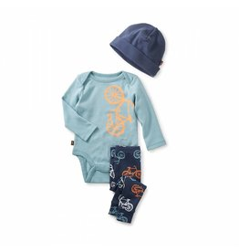Tea Collection Cycle Baby Outfit