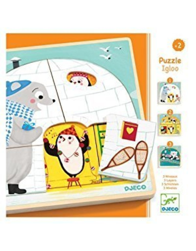 Djeco (Hotaling Imports) Igloo 3 Layers Puzzle