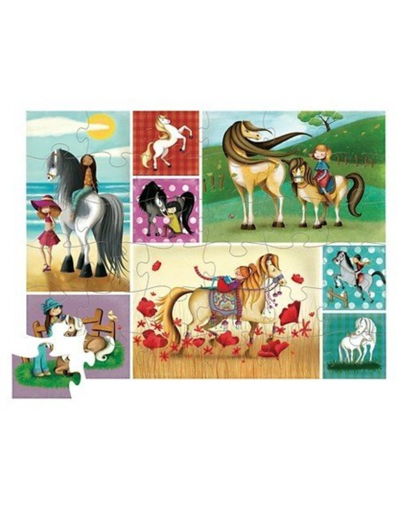 Crocodile Creek 36 pc Shaped Puzzle - Horse