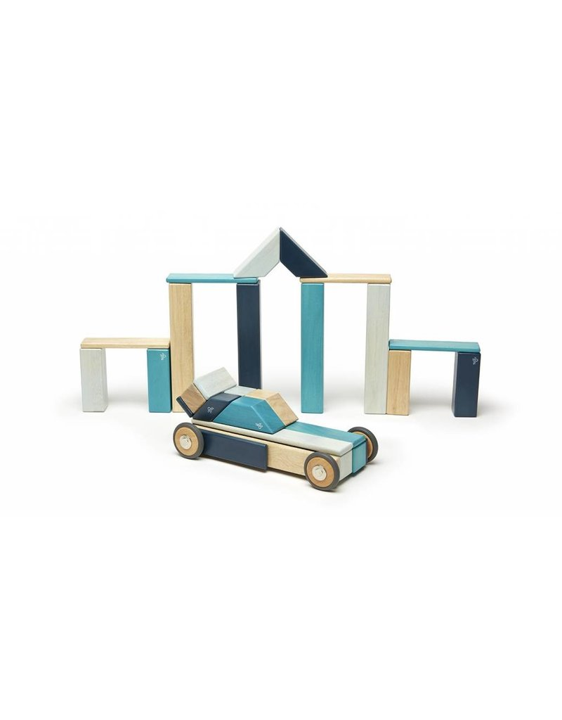 Tegu 42-Piece Magnetic Block Set - Blues