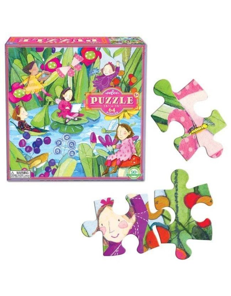 eeBoo Fairies by the Pond Puzzle 64 pc