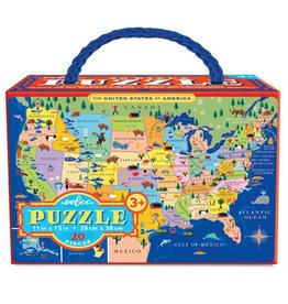 eeBoo United States Puzzle 20 pc