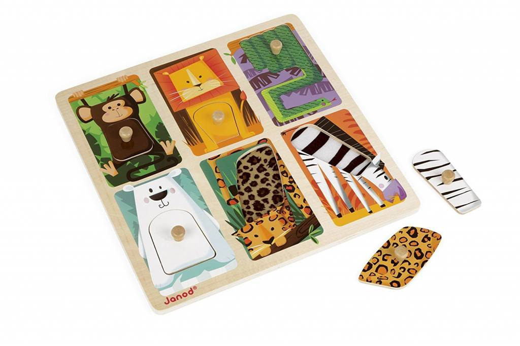 Juratoys Tactile Puzzle - Zoo Animals