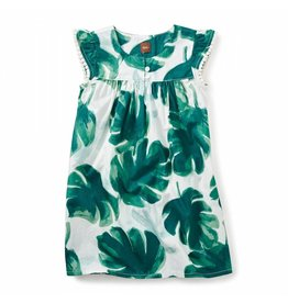Tea Collection Palm Flutter Dress