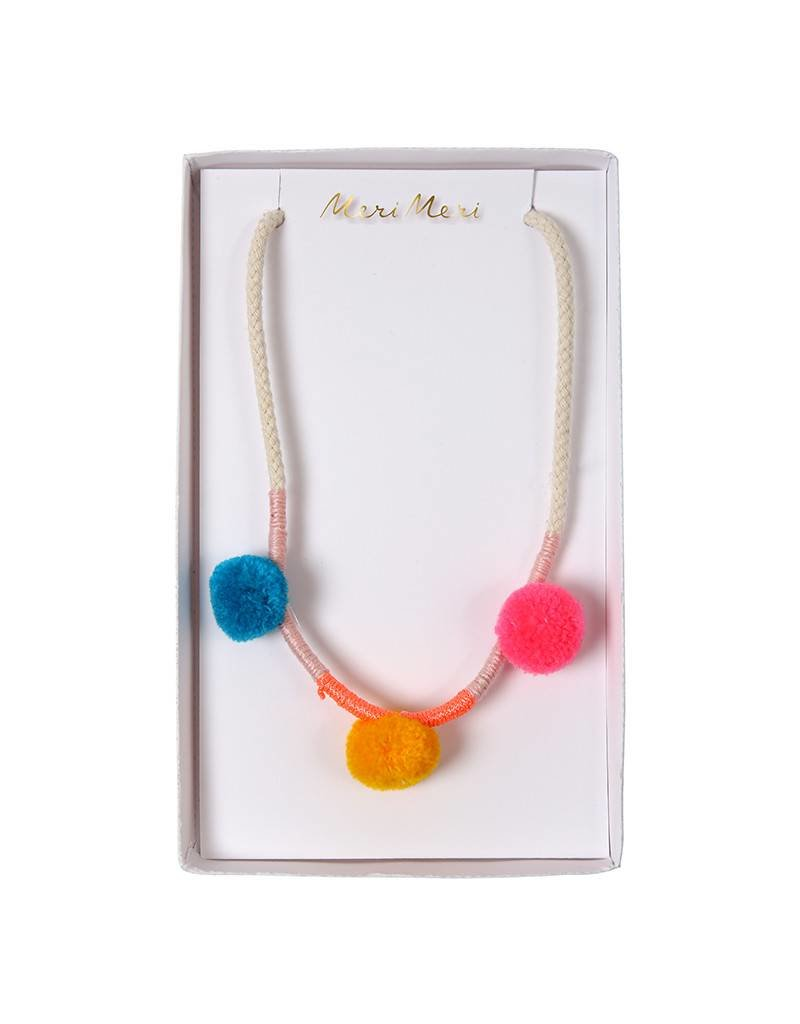 Meri Meri Necklace- Pom Poms