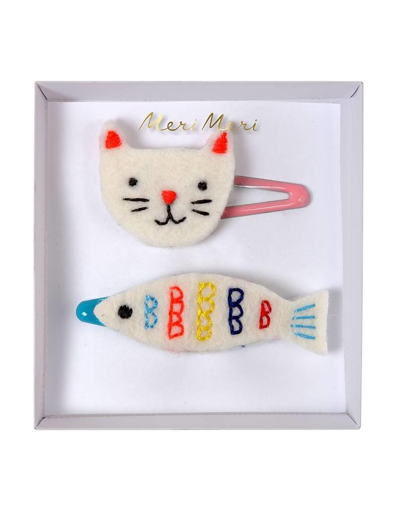 Meri Meri Hair Clips- Cat & Fish