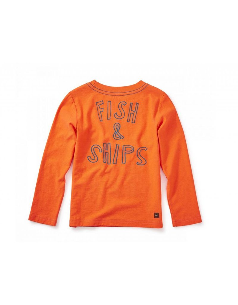 Tea Collection Fish & Ships Graphic Tee