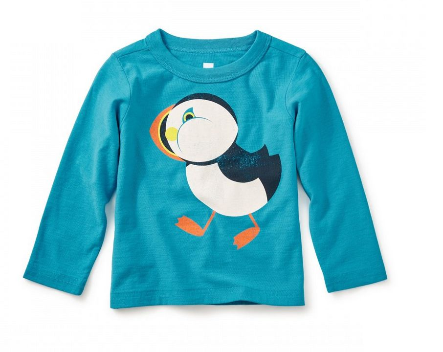 Tea Collection Puffin Baby Tee