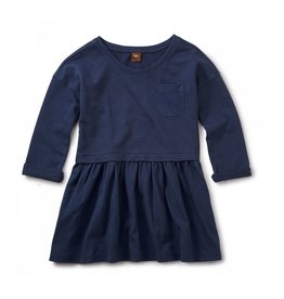 Tea Collection Solid Pocket Skirted Dress