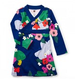Tea Collection Scotland Garden Wrap Neck Dress
