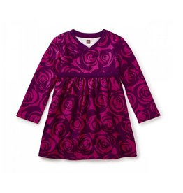 Tea Collection Rennie Rose Wrap Neck Baby Dress