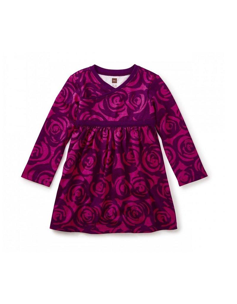 Tea Collection Rennie Rose Wrap Neck Bb Dress