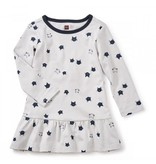 Tea Collection Moggy Cat Ruffle Baby Dress