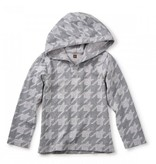 Tea Collection Houndstooth Happy Hoodie