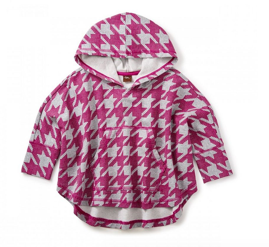 Tea Collection Houndstooth Hoodie