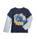 Tea Collection Fish and Chips Graphic Tee