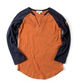 Appaman Baseball Tee - Blue/Orange