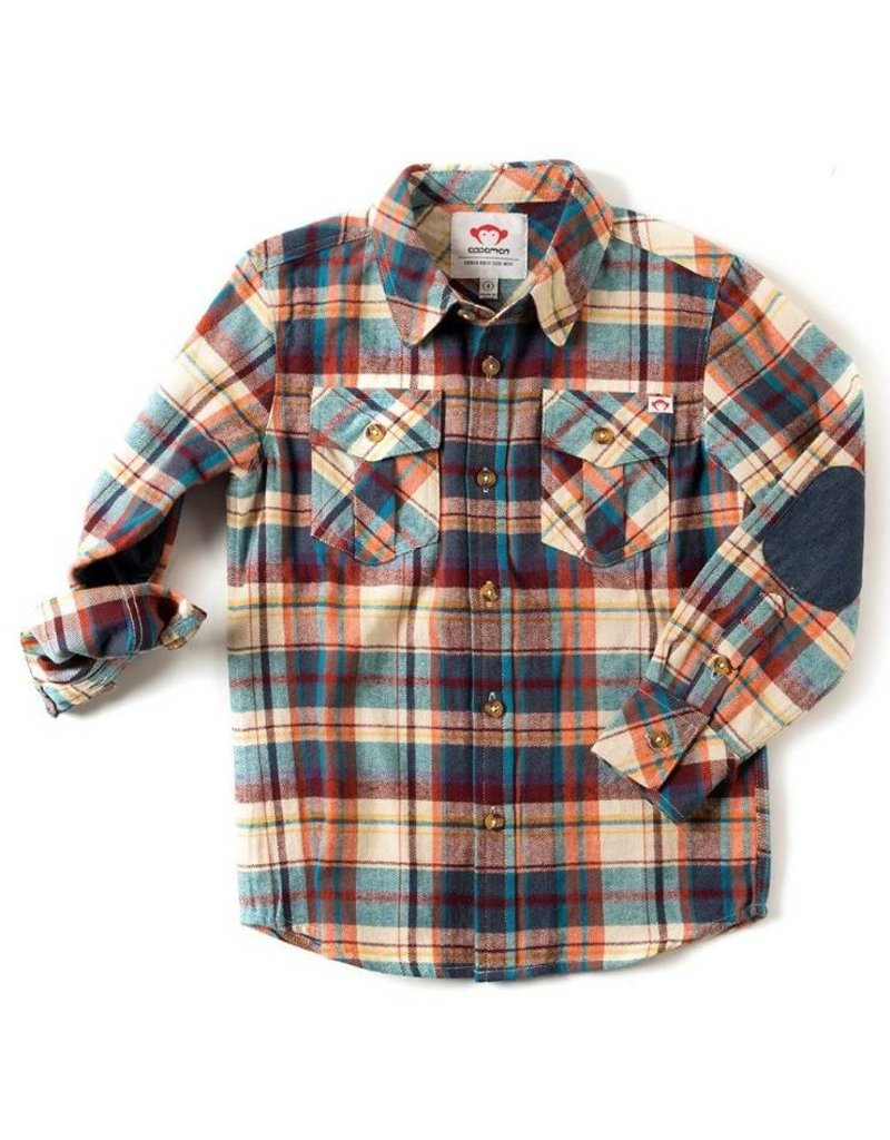 Appaman Stillwater Orange Plaid Shirt