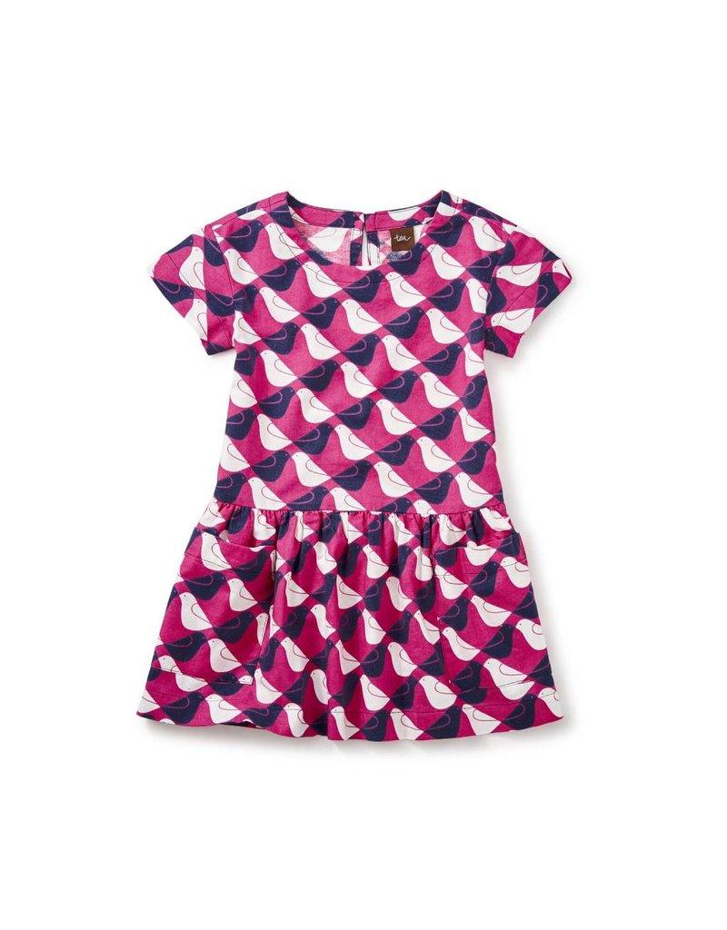 Tea Collection Argyle Birds Pocket Dress