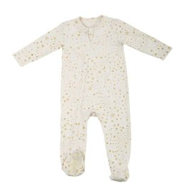 Egg Baby Gold Zipper Footie