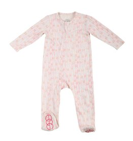 Egg Baby Pink Zipper Footie