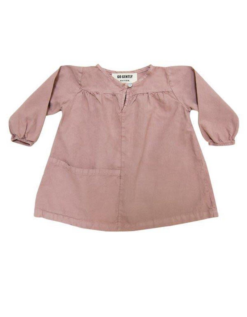 Go Gently Nation Pocket Smock Dress - Woodrose