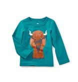 Tea Collection Heeland Coo Graphic Baby Tee