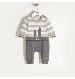 Bonnie Baby Flopsy Playsuit - Grey