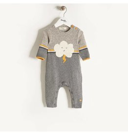 Bonnie Baby Voom Playsuit - Grey/Yellow