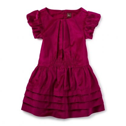 Tea Collection Dunrobin Velvet Dress