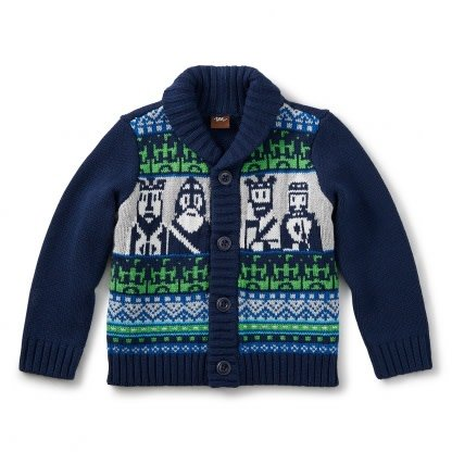 Tea Collection Chessmen Cardigan