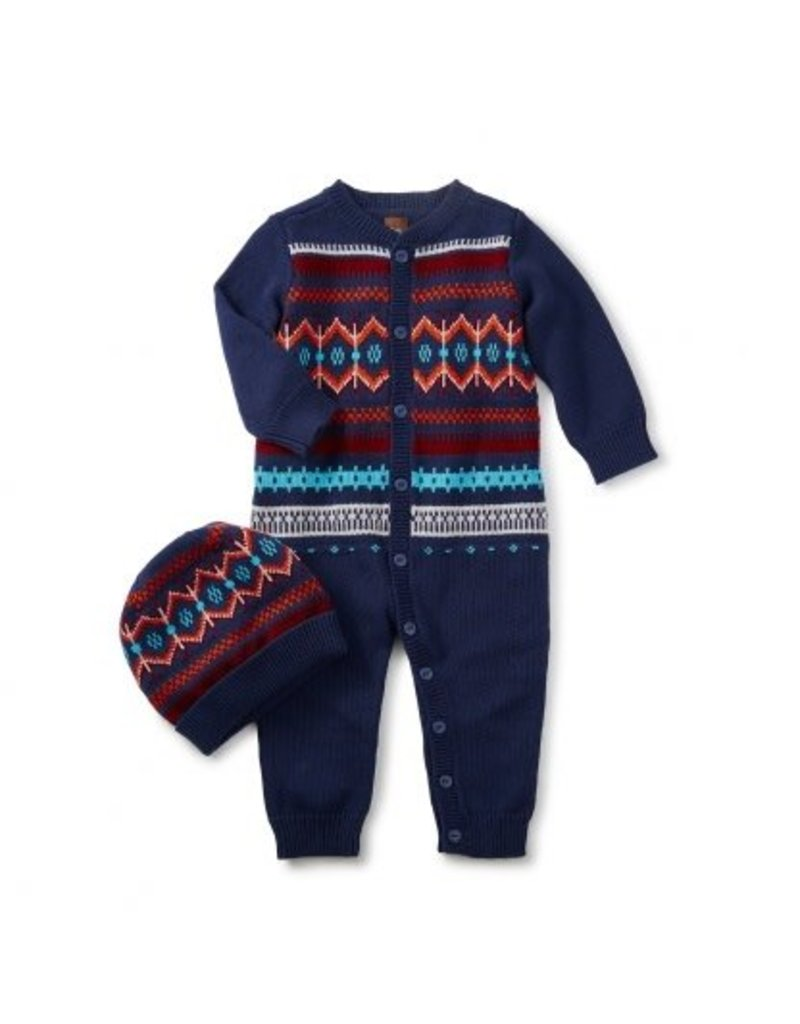 Tea Collection Niall Sweater Romper & Hat