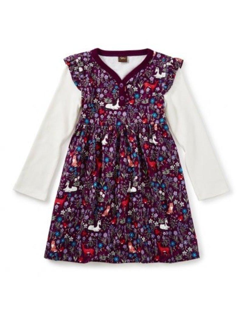 Tea Collection Woodland Button Neck Dress