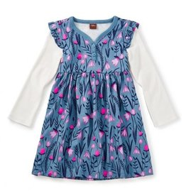 Tea Collection Snowdrop Button Neck Dress