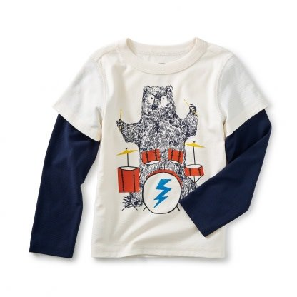 Tea Collection Backbeat Bear Graphic Tee