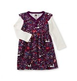 Tea Collection Woodland Bby Button Neck Dress
