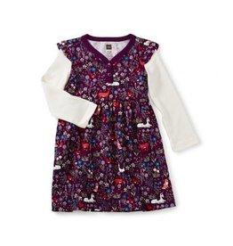 Tea Collection Woodland Bby Button Neck Dress