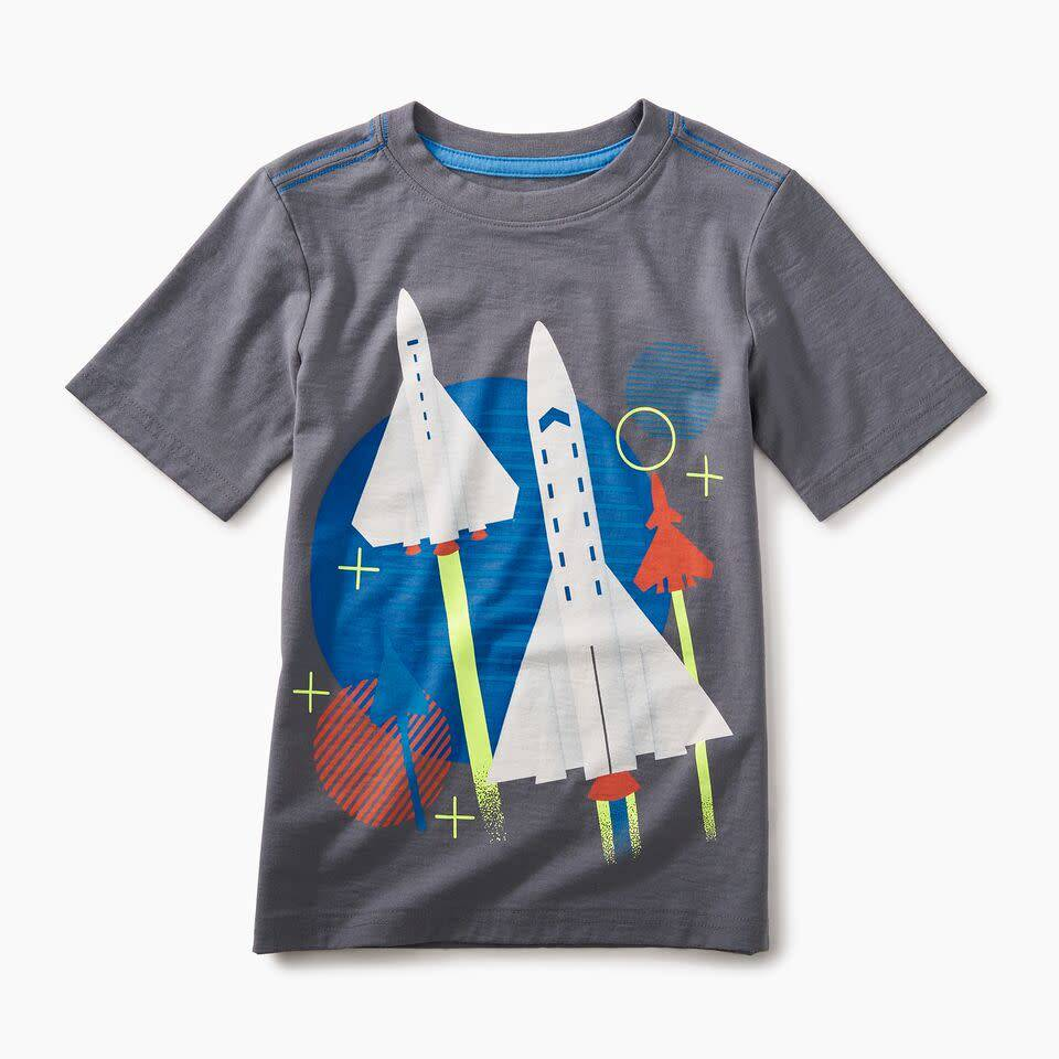 Tea Collection Space Shuttle Graphic Tee