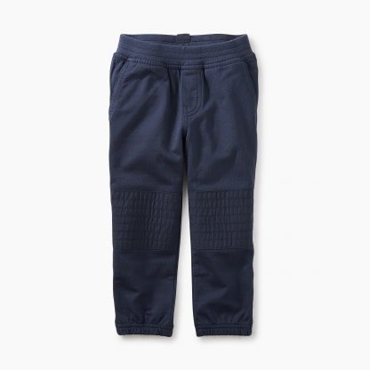 Tea Collection French Terry Moto Baby Pants - Indigo