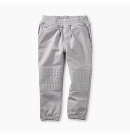 Tea Collection French Terry Moto Baby Pants - Storm Grey
