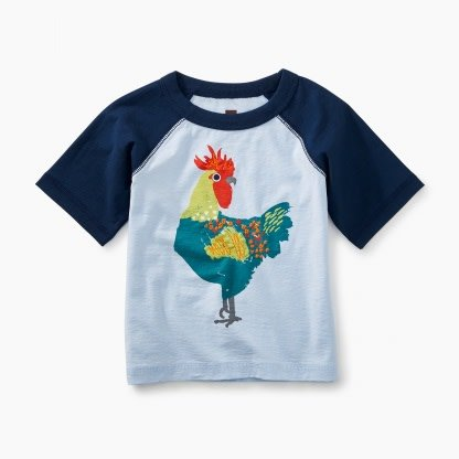 Tea Collection Rooster Baby Raglan Tee